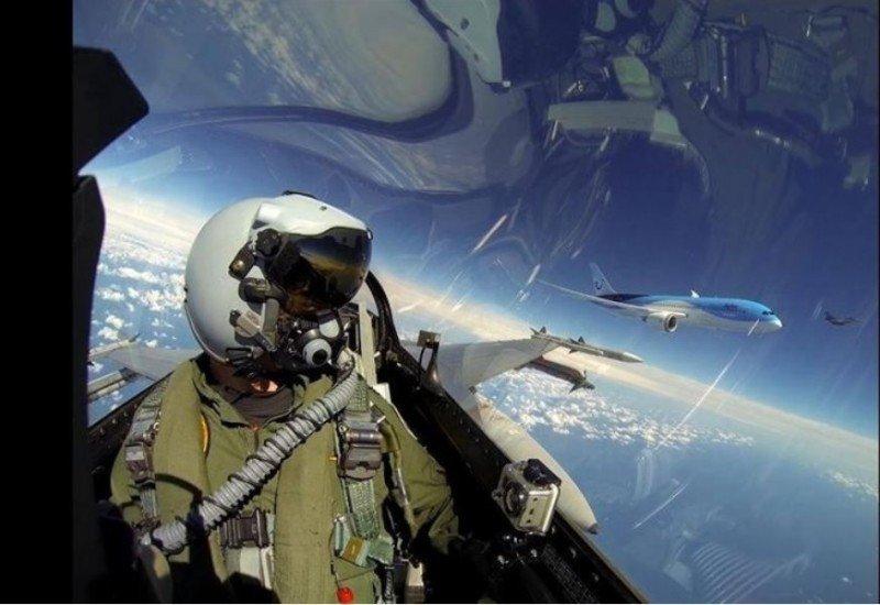 Fotonoticia: Selfies de aviones en pleno vuelo