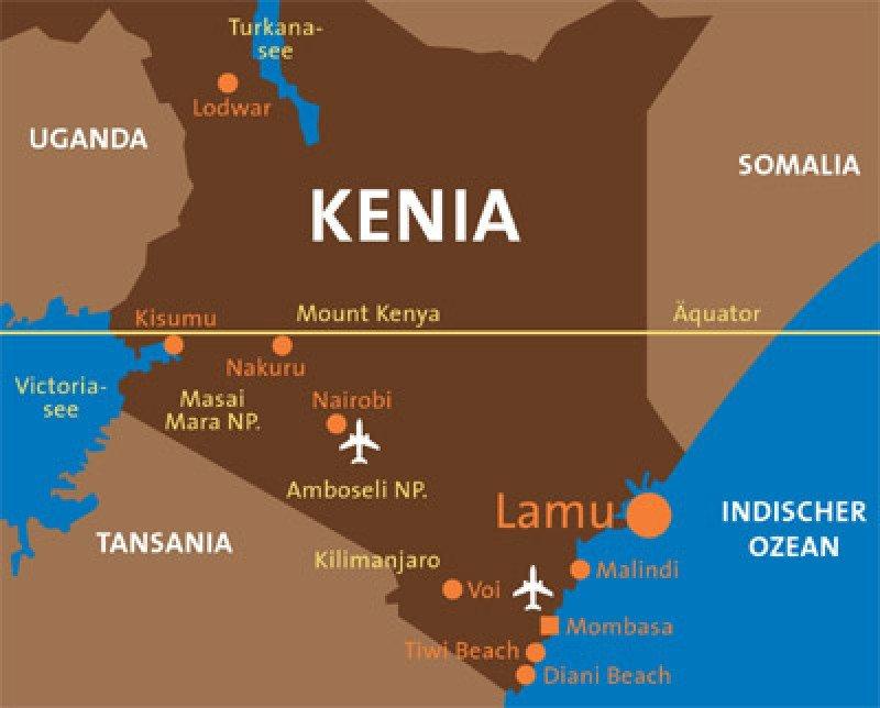 Situación de Lamu en Kenia.