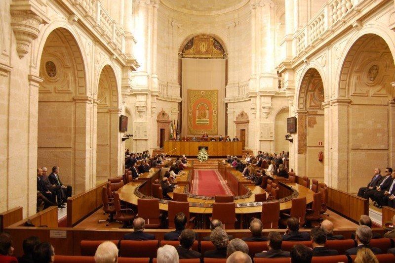 Sesión del Parlamento Andaluz.