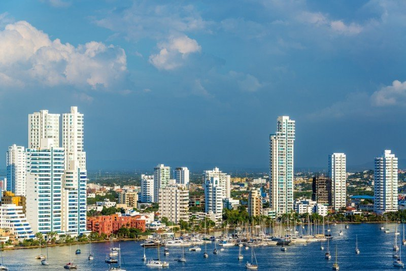Cartagena, barrio Bocagrande. #shu#.