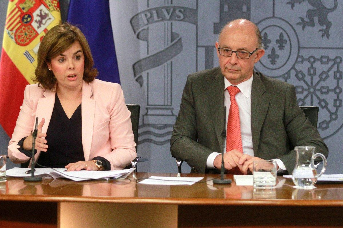 Soraya Sáenz de Santamaría y Cristóbal Montoro.