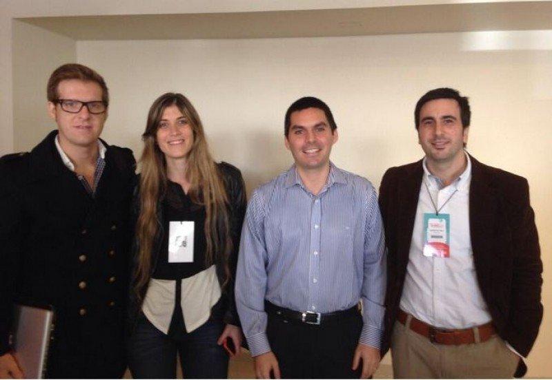 Miembros del panel sobre 'Nuevas Tecnologías aplicadas al turismo' en el Congreso de Agentes.