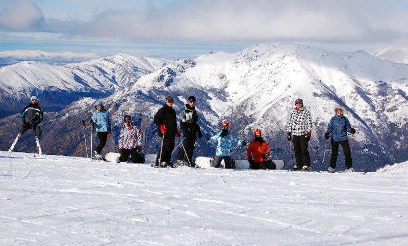 Clases de esquí en el Cerro Catedral.