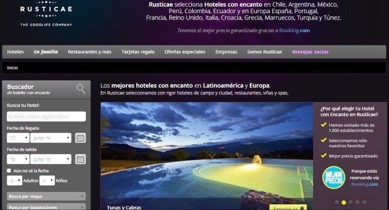 Portal de Rusticae en Ecuador.