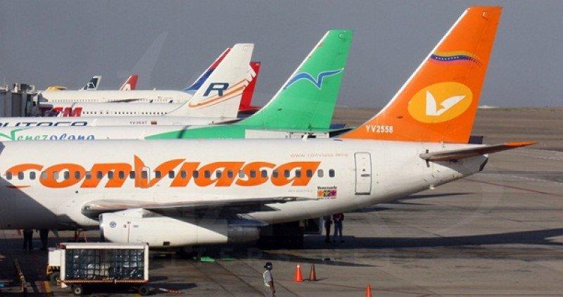 El 48% de las aerolíneas de Venezuela tiene sus flotas paradas