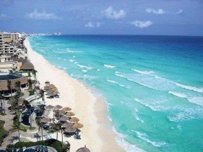Zona turística de Cancún en México.