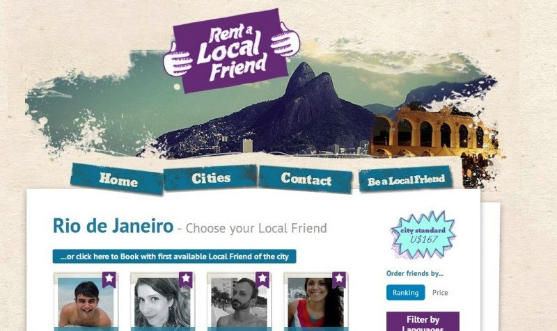 Rent a Local Friend, versión Rio de Janeiro.
