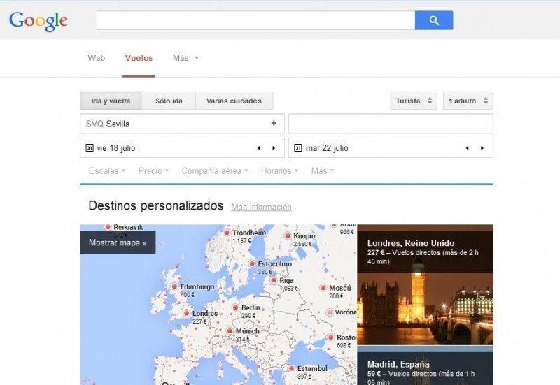 Google Flight Search se convierte en un competidor más fuerte