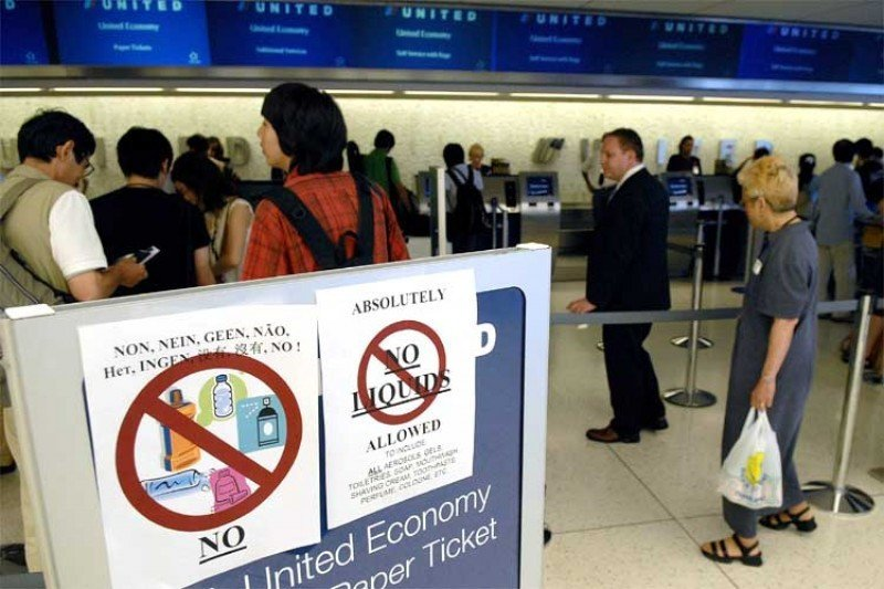 Aún están vigentes en la Unión Europea las medidas de seguridad para la restricción de líquidos en el equipaje de mano