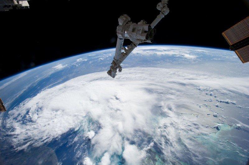 El huracán Arthur, visto desde la Estación Espacial Internacional. Foto: NASA.