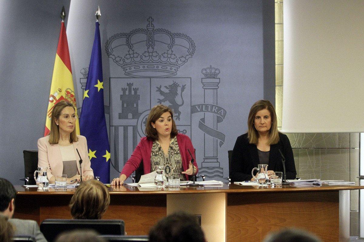 Ana Pastor, Soraya Sáenz de Santamaría y Fátima Bañez.