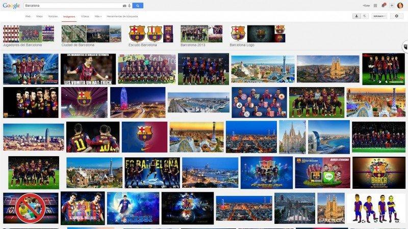 Barcelona en Google: claro predominio del equipo de fútbol sobre la ciudad.