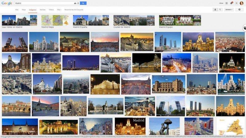 Madrid en Google: exactamente lo que busco, sin interferencias futbolísticas.
