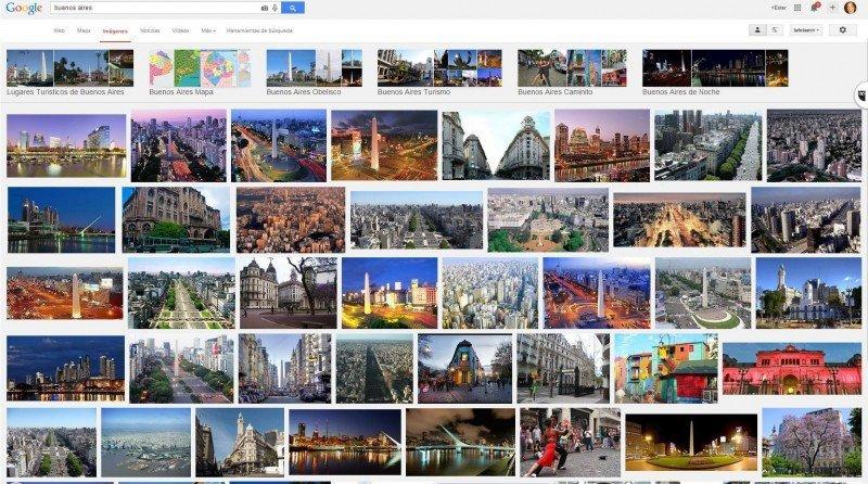Buenos Aires en Google.