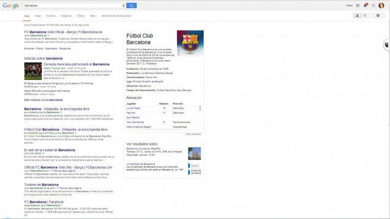 Barcelona buscando en la web.