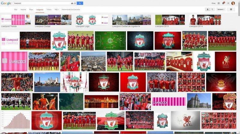 Liverpool en Google.