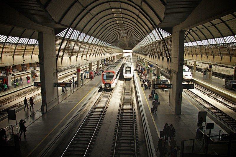 La huelga en Renfe y Adif se mantiene tras dos días de reuniones sin acuerdos (Estación de Santa Justa, Sevilla).