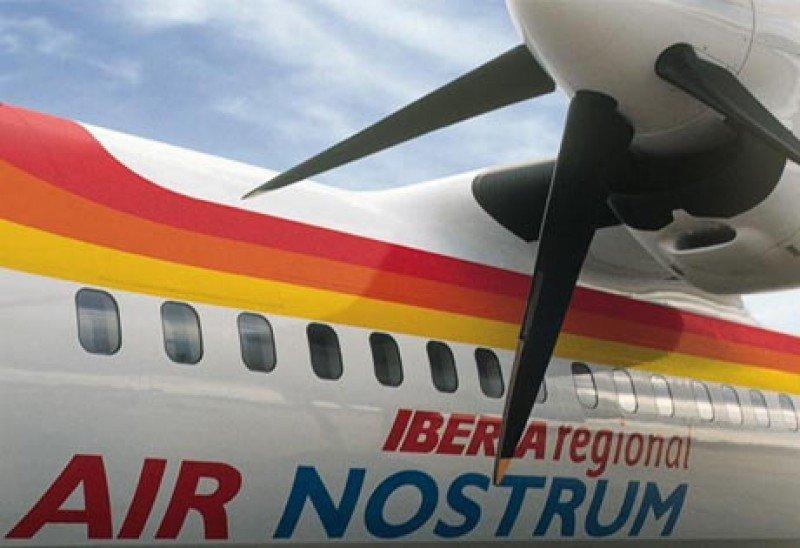 Air Nostrum vuelve a operar este viernes la línea aérea Almería-Sevilla