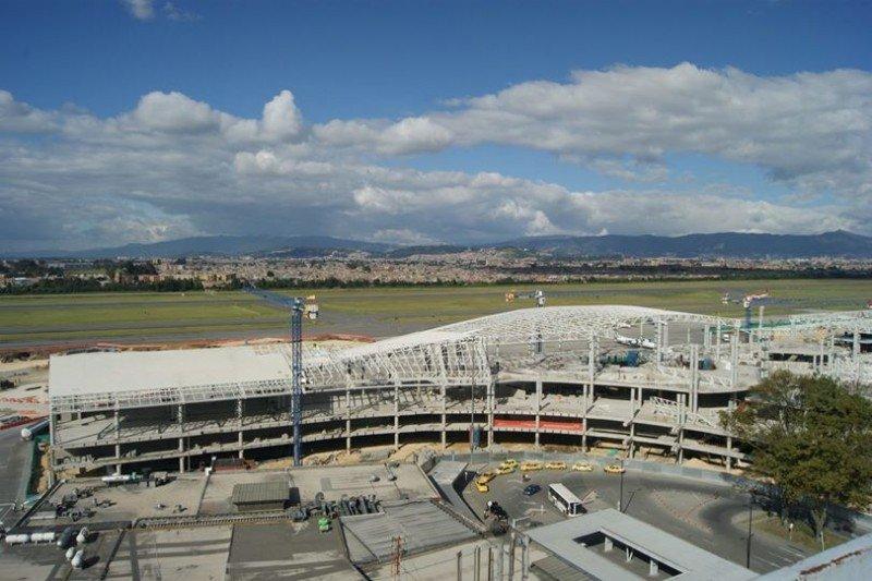 Obras en el Aeropuerto Internacional El Dorado.