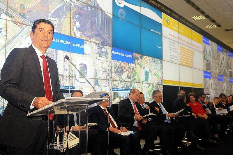 Vinicius Lages, ministro de Turismo de Brasil, durante la presentación del balance del Mundial. Foto: Ministerio de Turismo de Brasil.