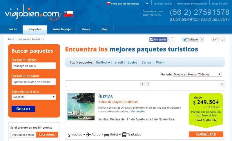 Agencia online Viajobien.com ingresa al mercado chileno