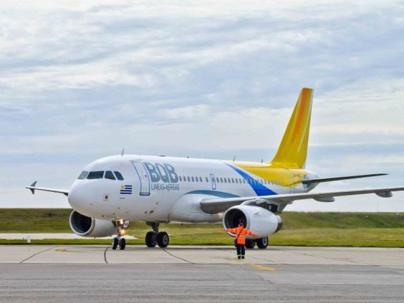 El Airbus A320 que trajo BQB está en Carrasco hace tres meses, y no fue usado.