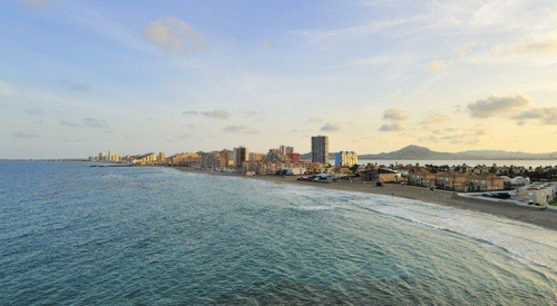 Vista de la Manga del Mar Menor, en la Región de Murcia. #shu#