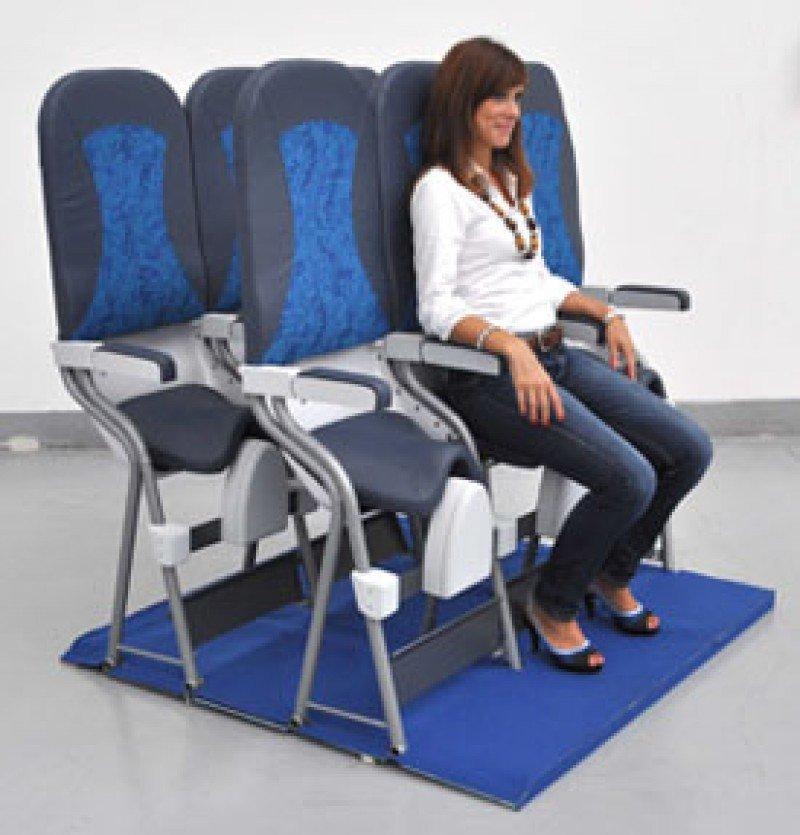 El modelo de asiento-sillín patentado por la firma italiana Aviointeriors.