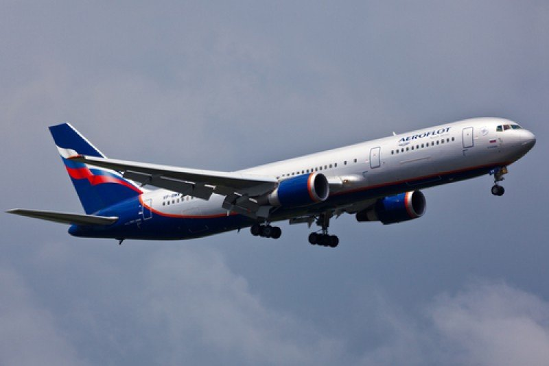 Un avión de la aerolínea rusa Aeroflot. #shu#