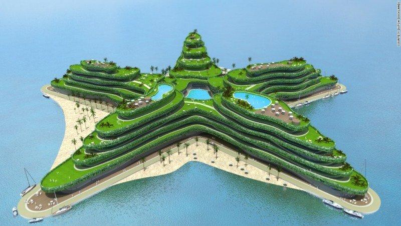Green Star, con forma de estrella, también se ubicará en Maldivas.
