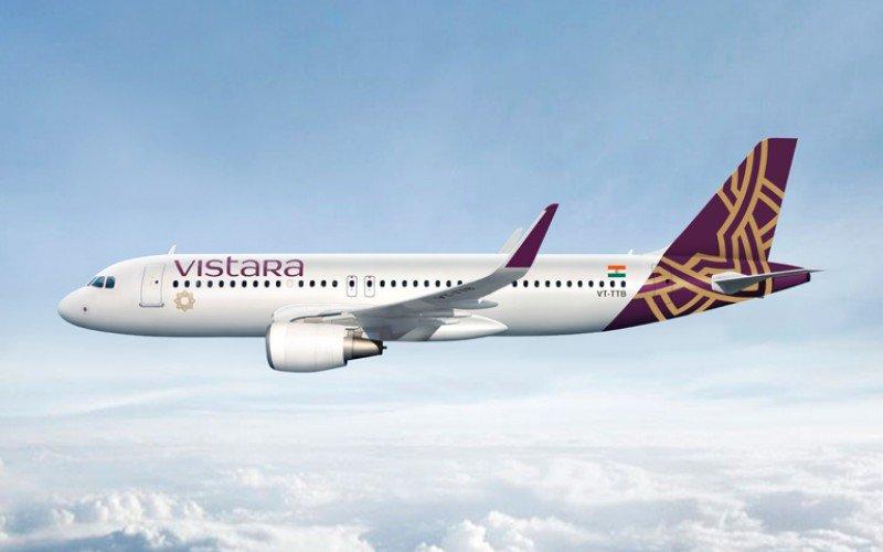 Imagen virtual de uno de los aviones que operará Vistara.