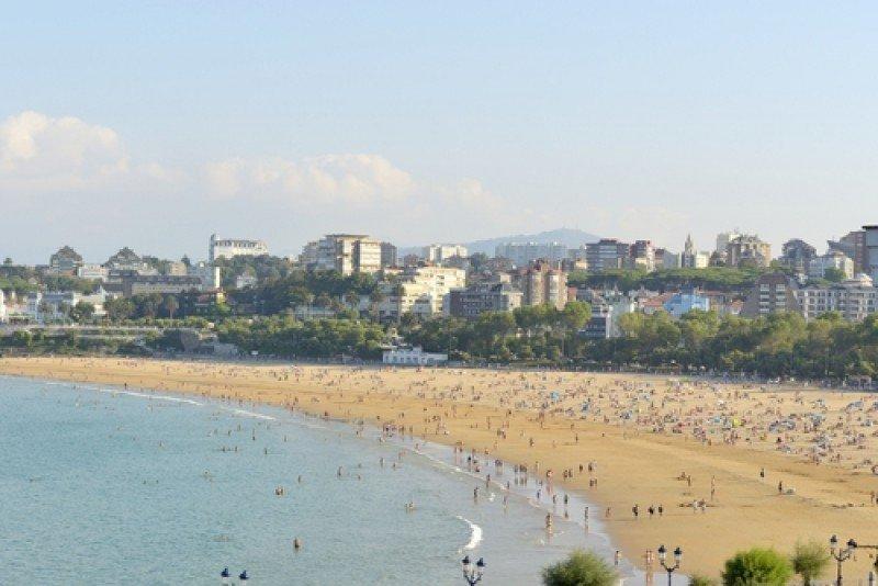 Playa del Sardinero, en Santander. #shu#