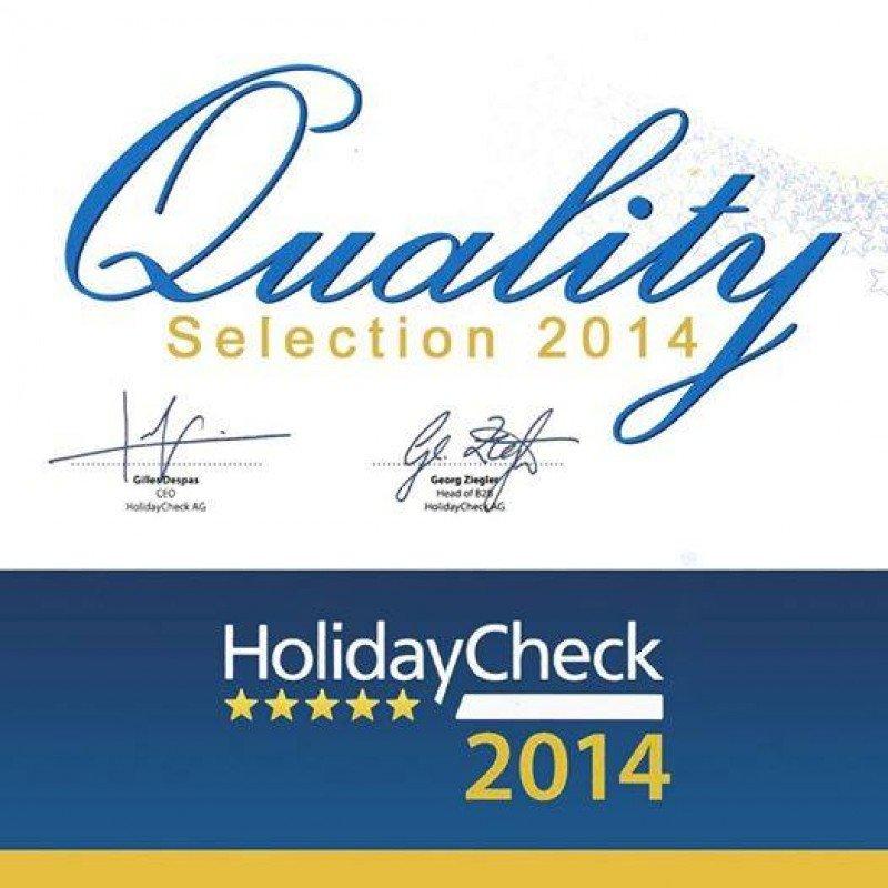 El galardón 'HolidayCheck Quality Selection' distingue a los hoteles que han sido calificados en su web con un mínimo de cuatro 'soles'.