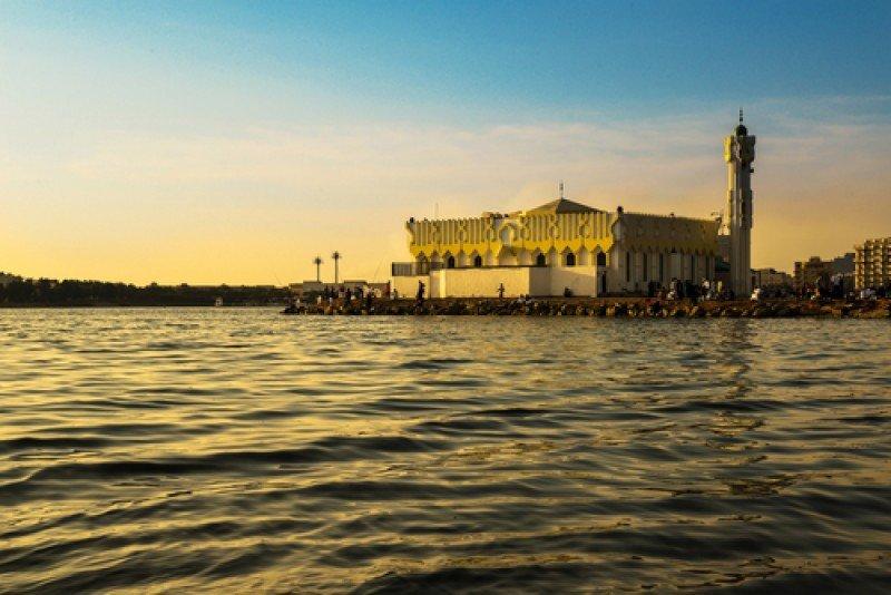 Una mezquita en Jeddah o Yeda. En 2014, la Unesco proclamó el centro histórico de Yeda como Patrimonio de la Humanidad