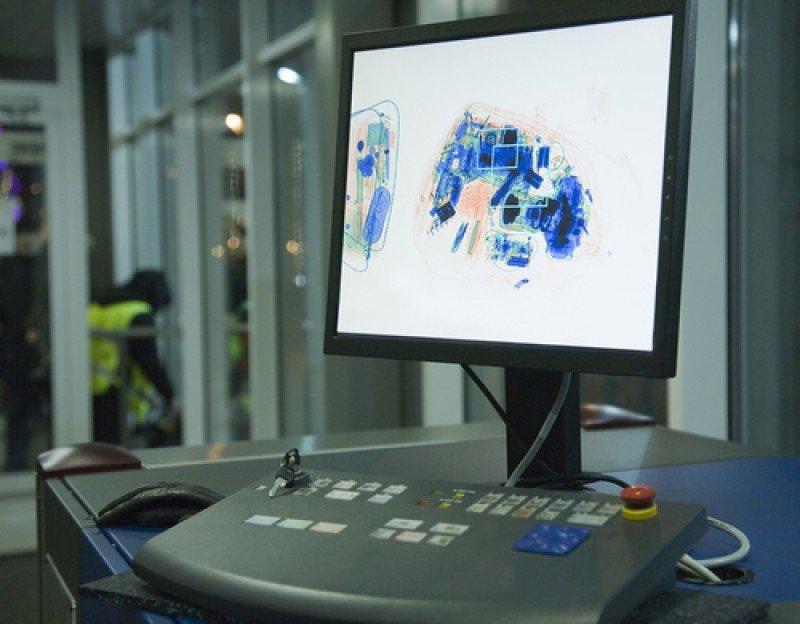 Control de rayos X en un aeropuerto. #shu#