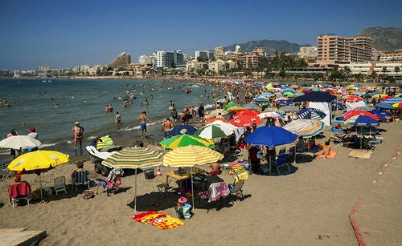 Playas de Benalmádena, en la Costa del Sol. #shu#