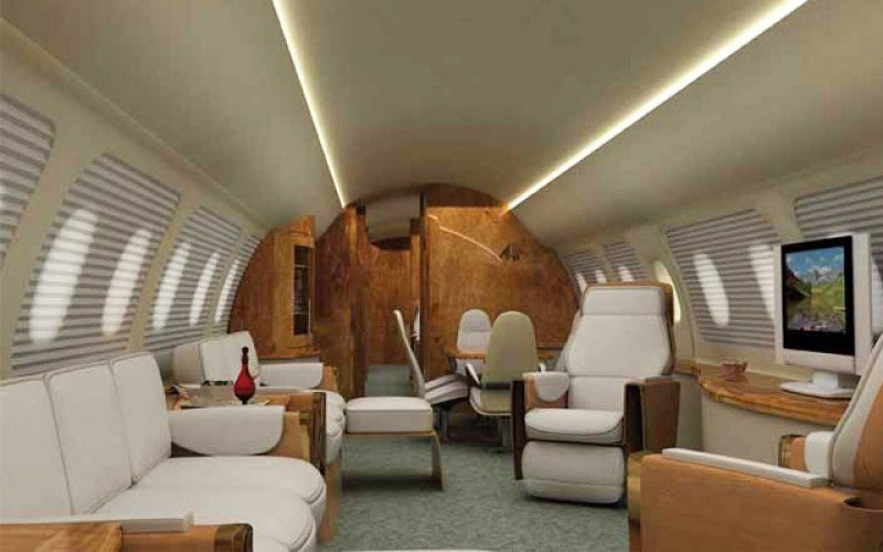 Embraer Lineage 1000 cabina.