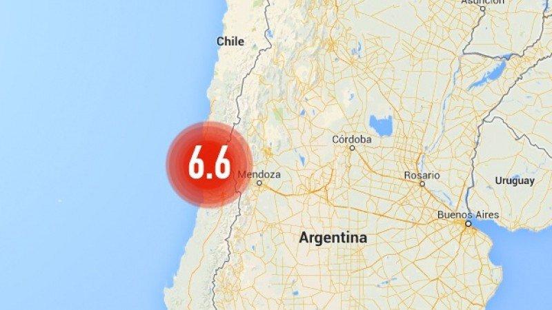 Sismo de magnitud 6,6 en el centro de Chile