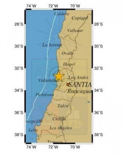 Informe de sismo sensible de las 18.32 horas del sábado 23.