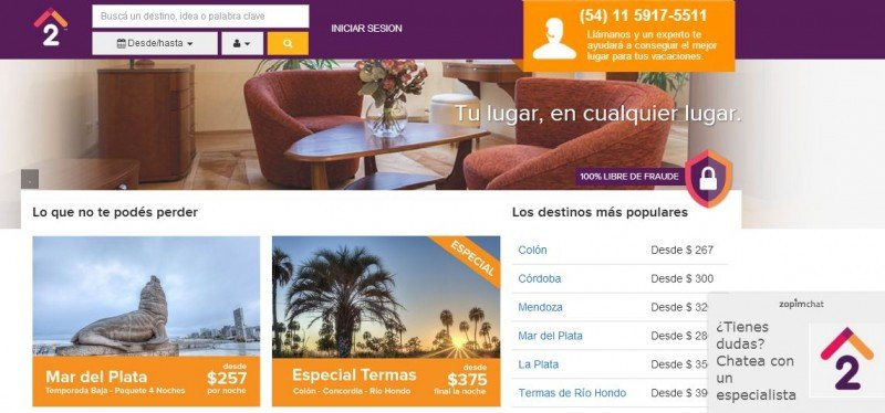 La plataforma ofrece 50.000 propiedades, con mayor presencia de Argentina, Brasil y México.