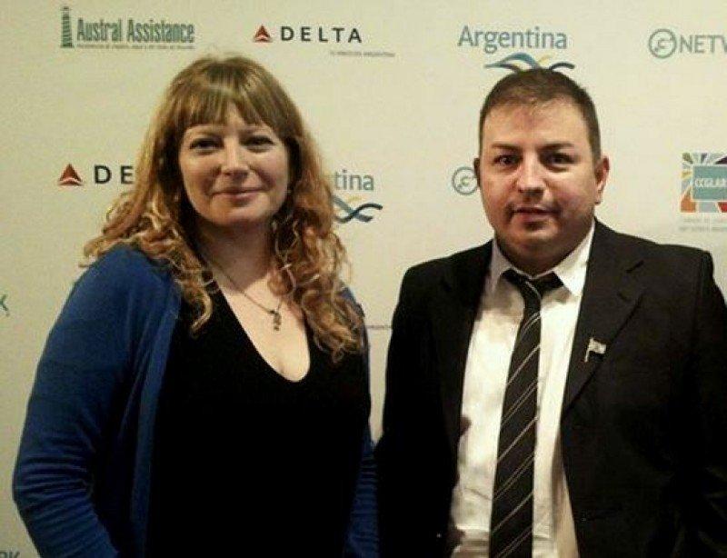 Gloria Garía Fontán (Secretaria de Turismo de Puerto Madryn) y Matías García (Flamenco Tour)  en Gnetwork360.
