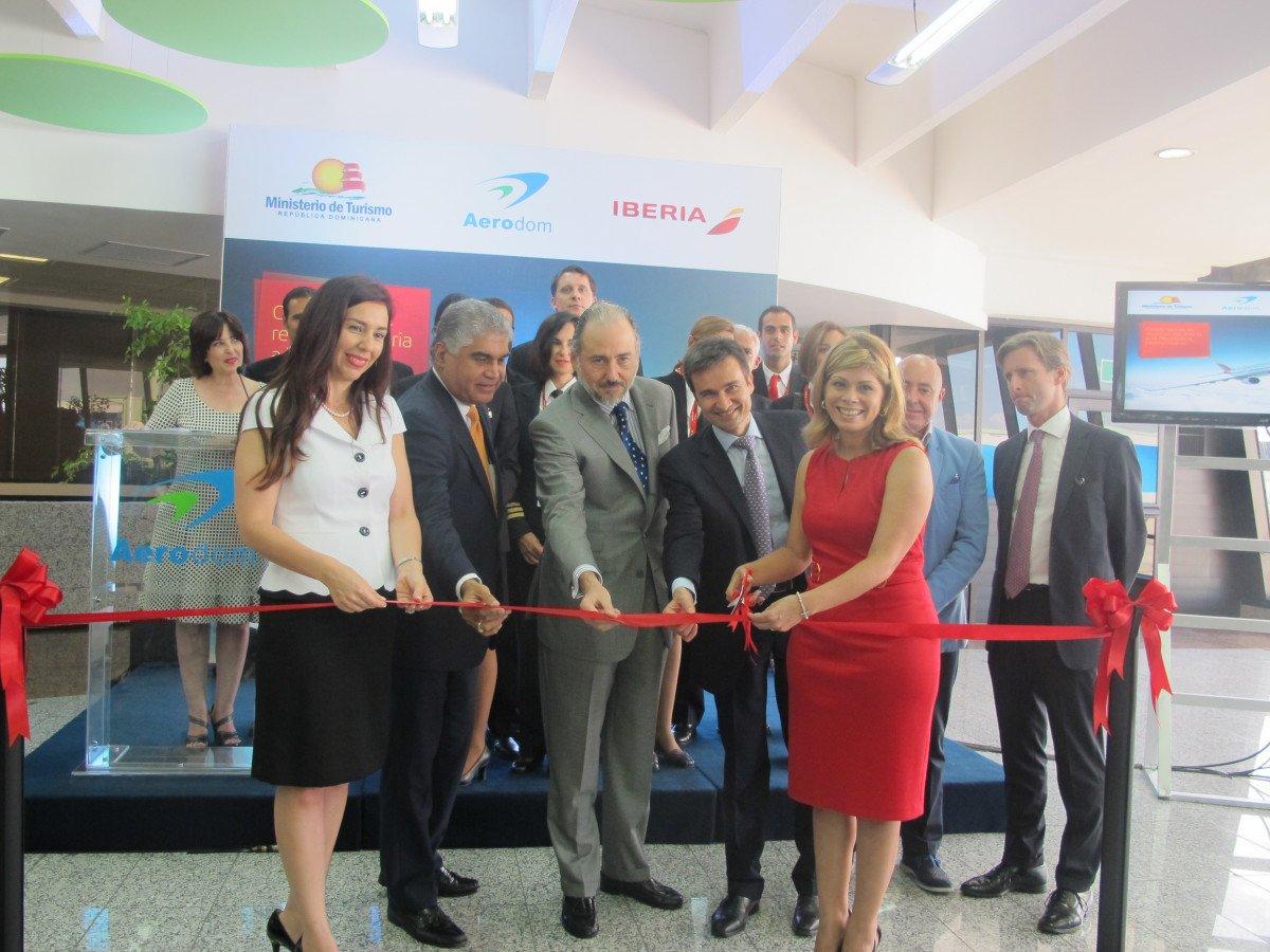 Marco Sansavini fue el encargado de representar a Iberia en el acto de inauguración de la nueva ruta.