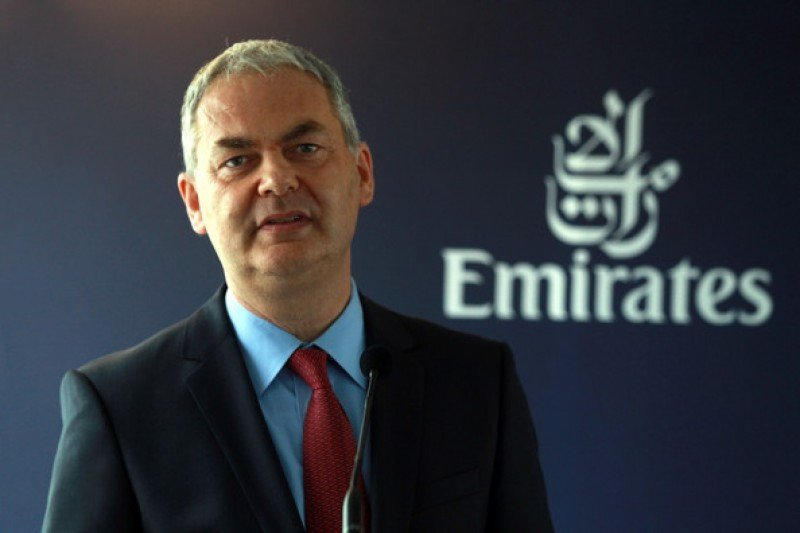 Thierry Antinori, director comercial de Emirates.
