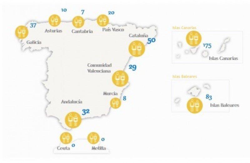 Playas nudistas de España. Gráfico: Playea. CLICK PARA AMPLIAR IMAGEN.