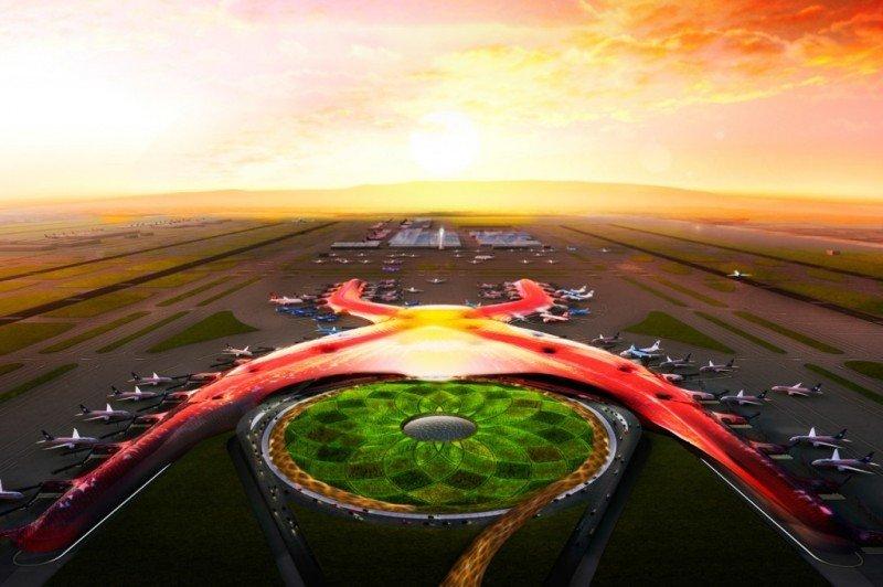 Modelo del proyectado aeropuerto.