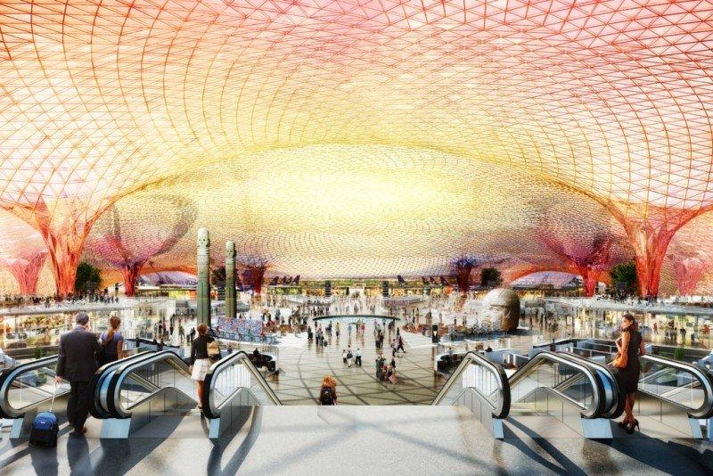 El aeropuerto tendrá seis pistas y capacidad para 120 millones de pasajeros anuales.