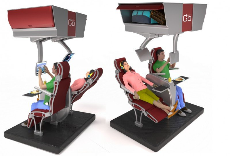 La clase económica del futuro imaginada por el estudio de diseño Air Go Design.