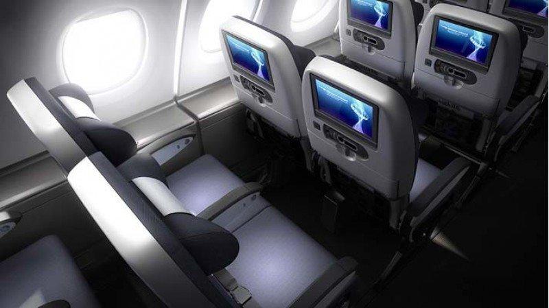 Nuevo sistema de entretenimiento a bordo en la clase económica de los B747 de British Airways, que se instalará a partir del año que viene en 18 aviones de los 48 Jumbo que opera la aerolínea británica.