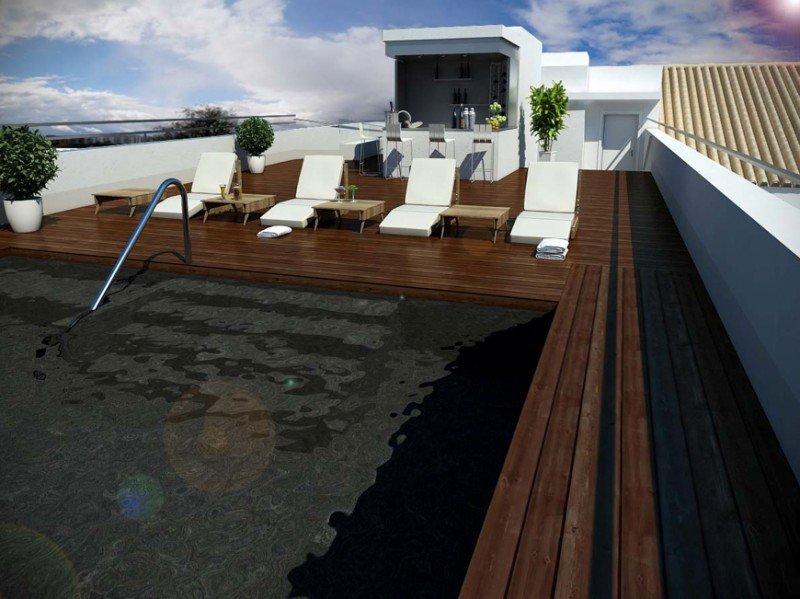 Recreación de la terraza.