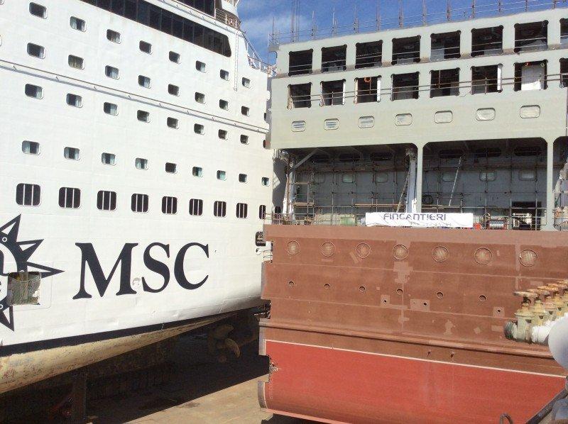 El módulo de 24 metros se insertará en el centro del barco.